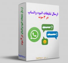 ارسال تبلیغات انبوه واتساپ در ۳ سوت